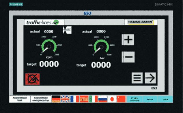 Bild traffic-lines Kontrollbildschirm
