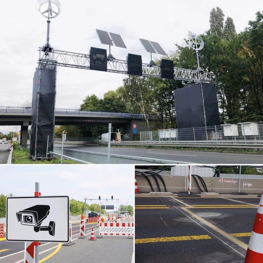 Bild Fahrzeugdifferenzierung Straße + Ampeln + Schilder