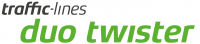 Logo mit Text : traffic-lines duo twister